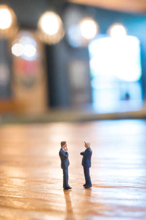 westerner: Business partner concept. Businessmen talking togather in cafe