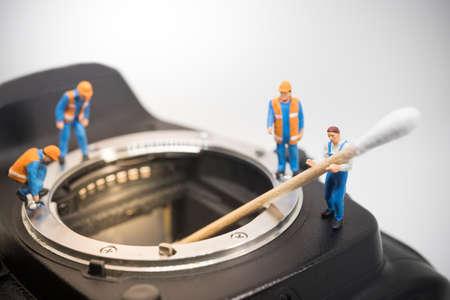 tiny lenses: Camera sensor cleaning team