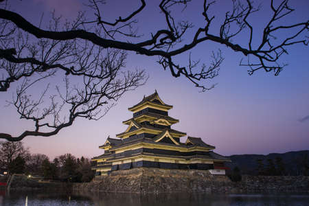 matsumoto: Matsumoto Castle in the evening, Matsumoto, Japan
