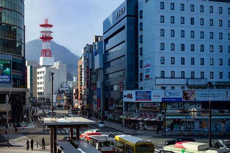 Nagano, Japan - February 14, 2017 : Urban view of City Nagano Prefecture.