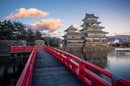 Matsumoto Castle in the evening, Matsumoto, Japan