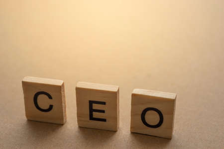 CEO Chief Executive Officer on wooden plate 写真素材