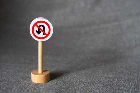 No U-Turn traffic sign Reklamní fotografie