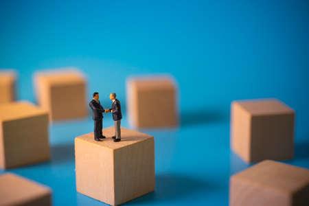 Business agreement concept. Businessmen doing handshake.