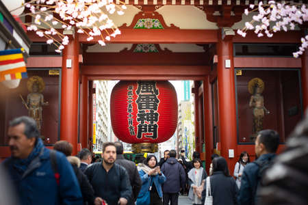 Tokyo, Japan - February 18, 2017 : Sensoji Temple in the morning with tourist