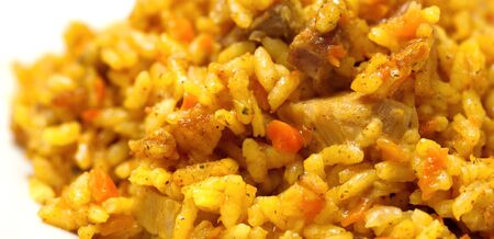 karri: pilaf from rice and meat. It is prepared with karri and carrots