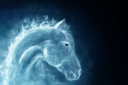 portrait of a horse. image from a smoke