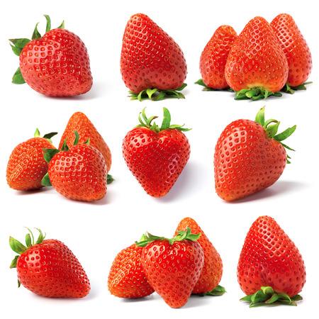 イチゴの果実から設定します。白で隔離