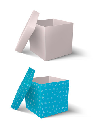 open gift box. vector on white background