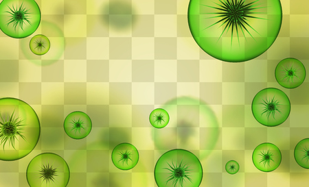 viruses and bacteria. vector background.