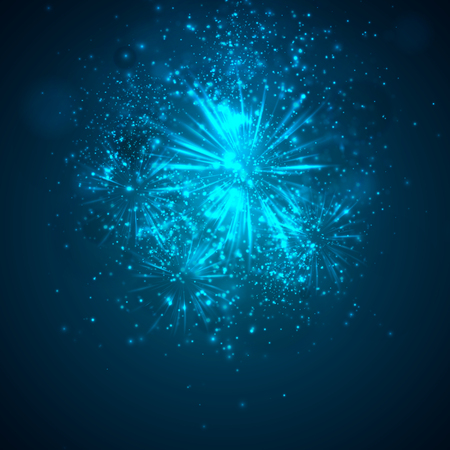 a bright blue colored energy stream swirling against a dark background. vector abstract concept