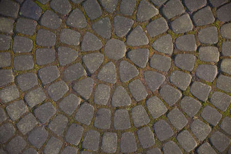 texture of pavers and stone. beautiful pattern from paving