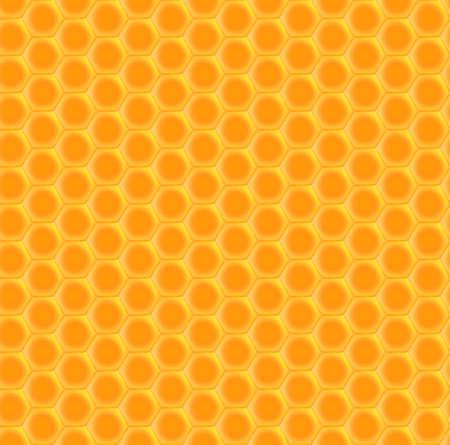 Seamless background of hexagonal honeycombs. Vector pattern