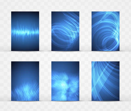 vector template for brochure design. a set of six backgrounds