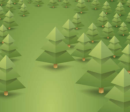 coniferous forest landscape. clean air, camping, logging, loggers. vector background for design
