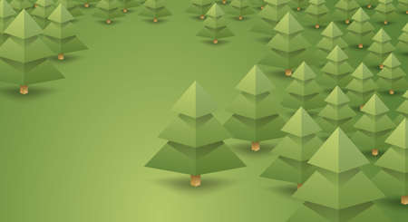 coniferous forest landscape. clean air, camping, logging, loggers. vector background for design Illustration