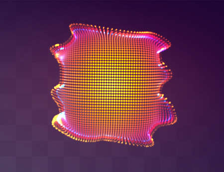 Vector abstract form. bright colors and highlights. neon rainbow.