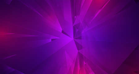 abstract vector background of lines and 3d shapes Standard-Bild - 157128190