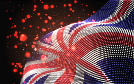 Vector bright glowing country flag of abstract dots. England Иллюстрация