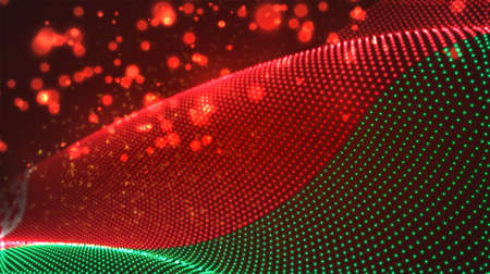 Vector bright glowing country flag of abstract dots. Belarus