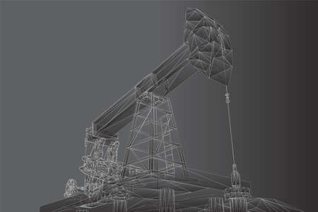 oil derrick. vector 3d object. mining of minerals.