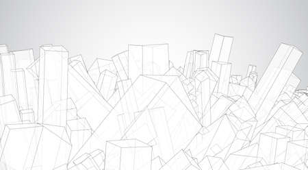 vector geometric background. abstract square shapes and bends