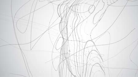 Abstract vector background of lines and points, curved beautiful shapes. Vettoriali