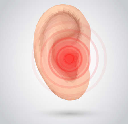 vector human ear. hearing treatment, therapy and prevention