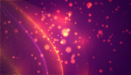 abstract vector 3d background with bends and wave