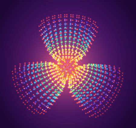 vector symbol of luminous dots, rainbow gradient
