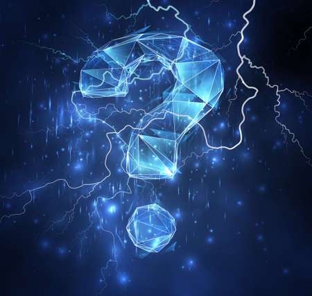 3d vector object on a background of blue sky. lightning and thunder. strength and power Ilustração Vetorial