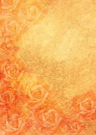 roses in orange Stock Photo