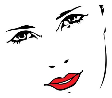 beautiful women face Illustration