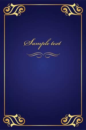 Buchcover - gold mit blauen