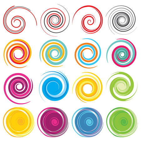 the spiral: Espirales de colores vector