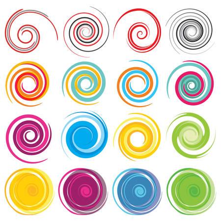 Gekleurde Vector spiralen