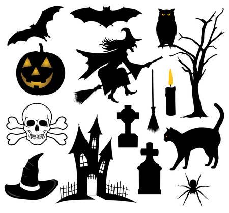 Set of Halloween things Illustration
