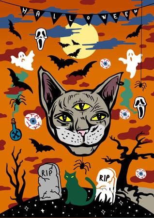 Halloween poster - vector illustration