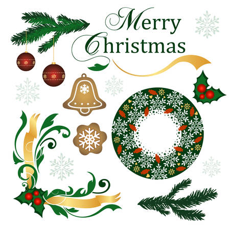 Christmas supplies Illustration
