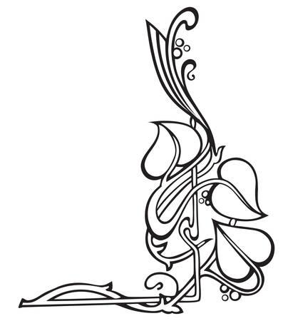Flower garland like Art Nouveau