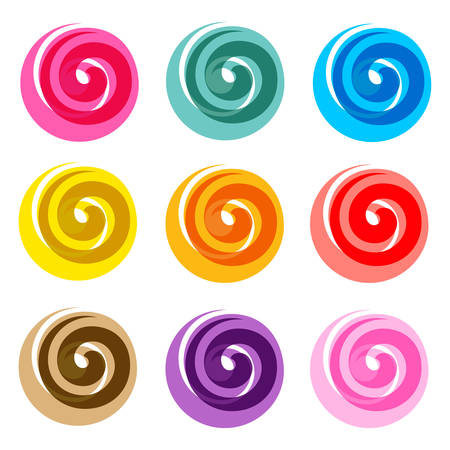colored spirals