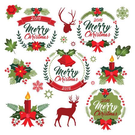 Christmas wreath clipart, Xmas ornament, Christmas Vectron graphic, clipart Deer, Antler vector, Floral decoration, Winter vector clipart