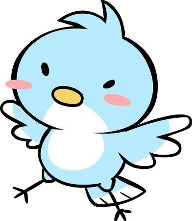 Cute Bird Illustration