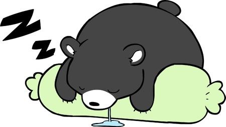 Sleepy Bear Vectores