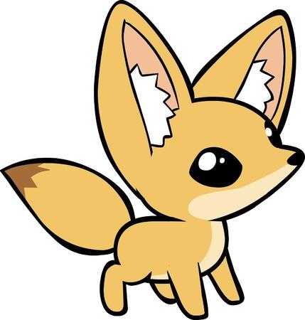 fox cartoon: Fennec fox
