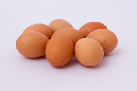 white eggs: Eggs on white background Stock Photo