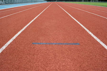 Athletics Track Lane made with orange rubber photo