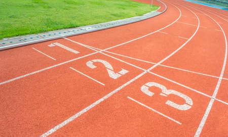 athletics Track Lane made with orange rubber photo