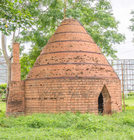 woodfire: old traditional brick oven in the garden