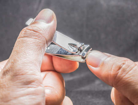 Close up shot of nail cutter  image . photo